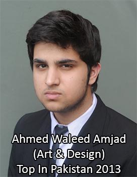 ahmed waleed amjad top in pakistan Art & Design 2013